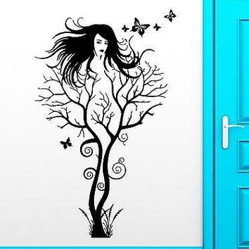 Wall Stickers Vinyl Decal Hot Sexy Girl Abstract Tree Modern Decor Unique Gift (ig1867)