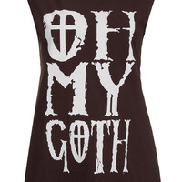 Oh My Goth Tank By Project Social T - New In This Week - New In - Topshop