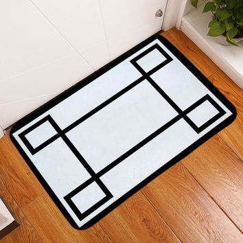 Autumn Fall welcome door mat doormat HomeMiYN 2018 Bath Mat Black Line White s Anti Slip Flannel Printed Bathroom Mat Home Hotel Floor Decoration Foot Pads AT_76_7