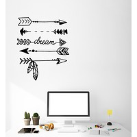 Vinyl Wall Decal Ethnic style Arrows Protection Dream Dreamcatcher Stickers (3731ig)