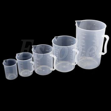 Plastic Measuring Cup 150 250 500 1000 2000mL Jug Pour Spout Surface Kitchen