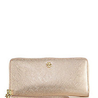 Tory Burch - York Metallic Saffiano Leather Zip Continental Wallet - Saks Fifth Avenue Mobile