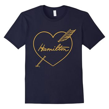 Hamilton Love Shirt | Quill Pen Through Heart