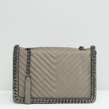 ALDO Structured Cross Body Bag With Chain Detail at asos.com