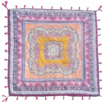 Purple and Pink Bohemian Festival Blanket / Tapestry / Throw Blanket