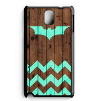 Bat And Chevron On Dark Wood Samsung Galaxy Note 3 Case