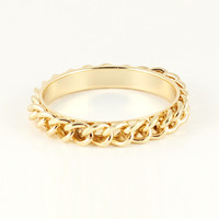 MINI GOLD CURB CHAIN BRACELET