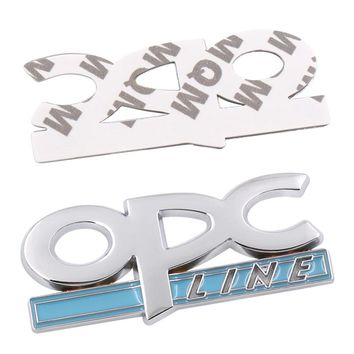 Durable 3D Silver OPC Line logo Adesivo car stickers Emblem Badge Decals Car styling Car Auto Accessories Tail Badge Sticker