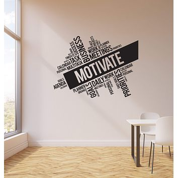 Vinyl Wall Decal Motivate Words Cloud Business Office Interior Art Stickers Mural (ig5737)