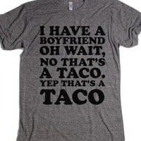 Don't taco bout my relationship-Unisex Athletic Grey T-Shirt