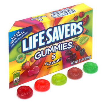 Life Savers Gummies Candy 3.5-Ounce Packs - 5 Flavors: 12-Piece Box