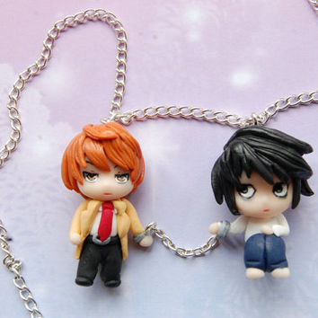 Death Note necklace with handmade clay charms