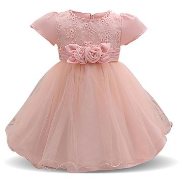 Summer Baby Girl Dress For Infant Party Costume Kids Girl Clothes Bebes First Birthday Outfits Toddler 0-2 Year Vestido Bautizo