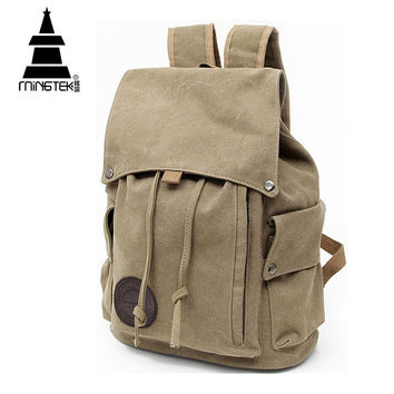 Vintage Canvas Backpack New Design Casual School Bags For teenagers Travel Men Women Drawstring Backpacks Rucksack High Quality