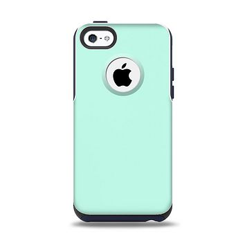 The Subtle Solid Green Apple iPhone 5c Otterbox Commuter Case Skin Set