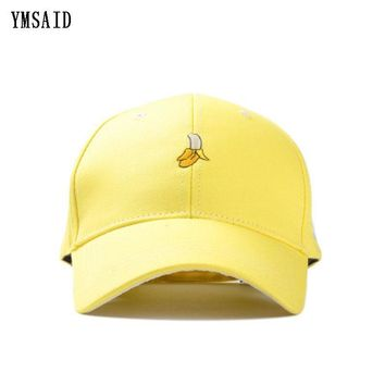 Trendy Winter Jacket Ymsaid New Arrival Spring Leisure Fresh Fruit Embroidery Hat Strawberry Banana Cherry Orange Peach Baseball Cap For Women AT_92_12