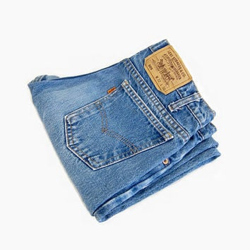Vintage 70's Levi's 505's: 50% of Proceeds go to Planned Parenthood! Blue 70's Denim, Boyfriend Jeans, Orange Tab, 30 Waist, Small/Medium
