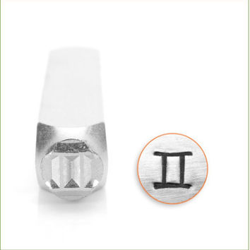 6 mm Gemini metal design stamp