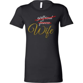 Girlfriend,Fiancee,Wife Just Married Party Squad Bella Shirt