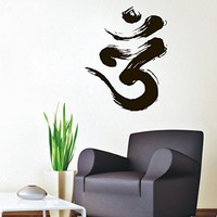 Wall Decals OM-Symbol Tribal Namaste Floral Yoga India Buddha Decal Vinyl Sticker Home Decor Bedroom Interior Design Art Mural EG9