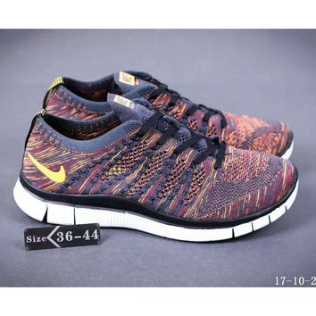 Nike NIKE FREE FLYKNIT NSW barefoot line running shoes high quality perfect new goods F-SSRS-CJZX Brown apricot