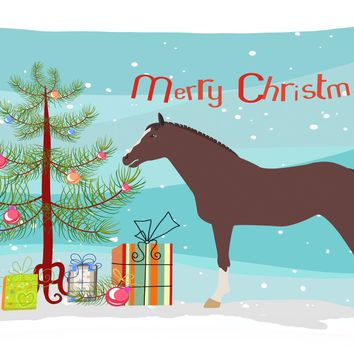 English Thoroughbred Horse Christmas Canvas Fabric Decorative Pillow BB9280PW1216