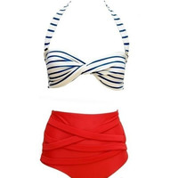 Retro Sophistication High Waisted Bikini from P.S. I Love You More Boutique