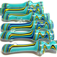 Glass Pipe, Wig Wag Glass Chillum, Hitter, Pipe, READY TO SHIP Paul Brehm, Hand Blown Pipes, Cgge Team,