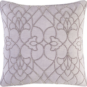 Surya Dotted Pirouette Throw Pillow Purple, Purple