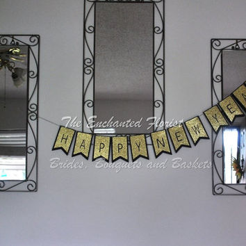 Happy New Year Banner, new years eve decorations, new years party decorations, new years photo props, happy New Year decorations, banners