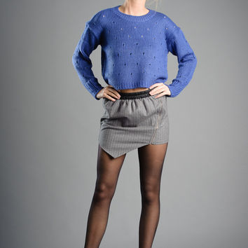 Perforated Knit Sweater