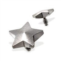 Internally Threaded Star Dermal Top, 14GA