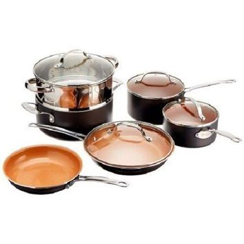 Gotham Steel 10-Piece Nonstick Copper Frying Pan & Cookware Set