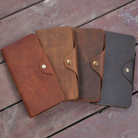 handmade genuine leather card wallet purse cool gift 41