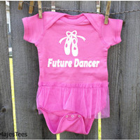 Future Dancer Bodysuit, Baby Girl Shower Gift