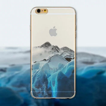 Glacier Tourism Scenery iPhone 5 5S iPhone 6 6S Plus creative case + Gift Box-125