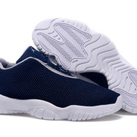 Cheap Nike Air Jordan Future 11 Low Navy White Shoes
