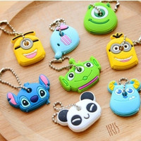 Cartoon soft key cover South Korea creative lovely key chain