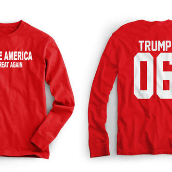 Donald TRUMP T Shirt - Long Sleeved - Make America Great Again - Sizes Small – 3XL