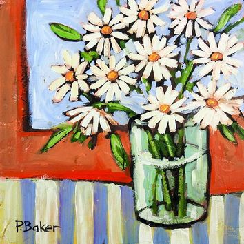 Floral Daisy Still Life Oil Painting by Patty Baker