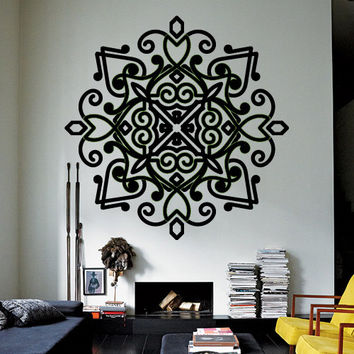 Wall Decor Vinyl Sticker Room Decal Lace Tracery Ornament Mandala Hinduism Hindu Buddhism Religion Faith (s184)