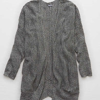Aerie Cozy Sweater Cardi , Gray