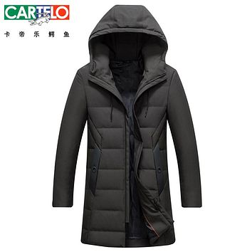 Cartelo/Brand Thick Winter Down Jacket Light Down Men New Warm Brand Clothing Top Quality Long Male 90% White Duck Down Coat