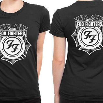 DCCKL83 Foo Fighter 2 Sided Womens T Shirt