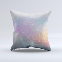 The Tie Dye Unfocused Glowing Orbs of Light ink-Fuzed Decorative Throw Pillow