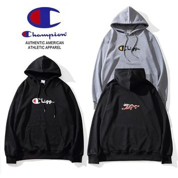 Champion Tide brand thin section loose wild men and women models hoodie