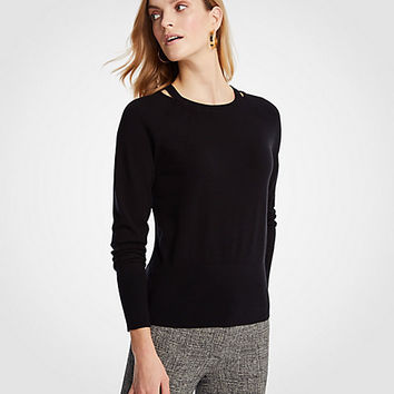 Shoulder Cutout Sweater | Ann Taylor