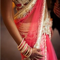 gorgeous pink & gold #indianwedding, #shaadibazaar #Bridal #Saree