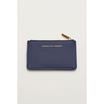 Card Purse - Woman On A Mission - Navy