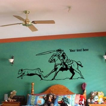 Rodeo-Horse-Vinyl Wall Decal-Wall Sticker-36 X 17 inches.